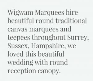 Wigwam Marquees